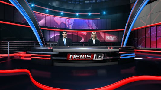Thumbnail for News Virtual Studio Set