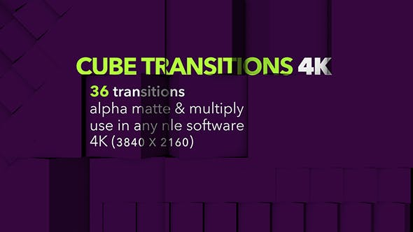 Thumbnail for Cube Transitions 4K - 36 Pack