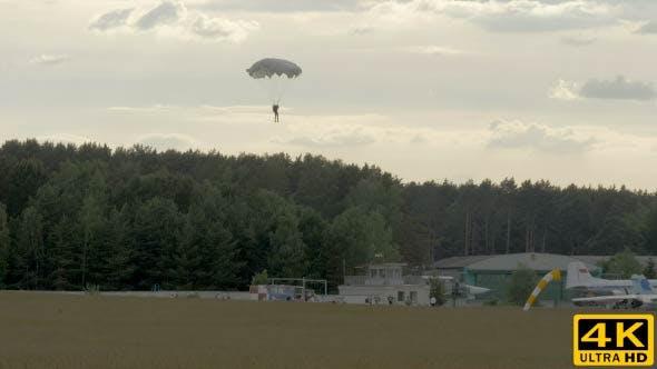Skydiver Landing