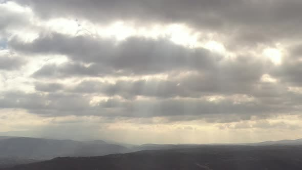 Thumbnail for Dramatic sky over the valley 4K drone video