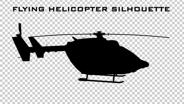 Thumbnail for Flying Helicopter Silhouette