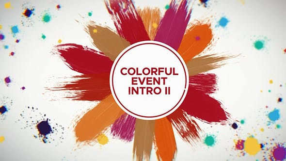 Cover Image for Colorful Event Intro II  | After Effects Template