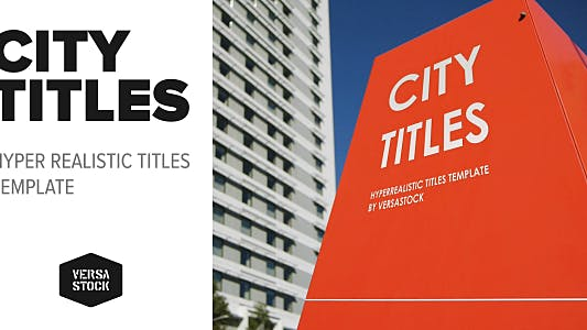 Cover Image for City Titles | Realistic Titles Opener