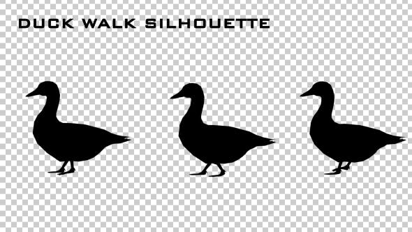 Thumbnail for Duck Walk Silhouette Animation