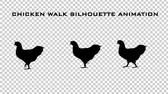 Thumbnail for Chicken Walk Silhouette Animation