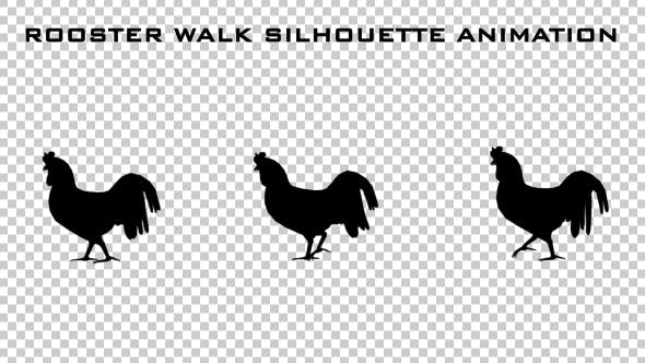 Thumbnail for Rooster Walk Silhouette Animation