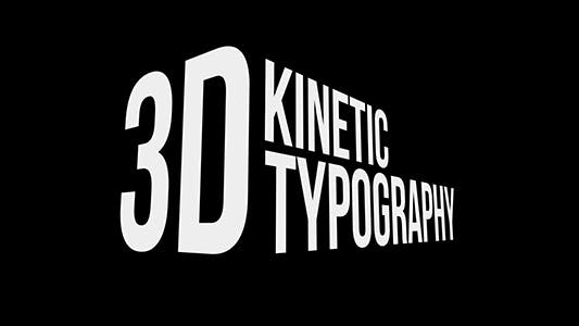 3D Kinetic Typography Titles