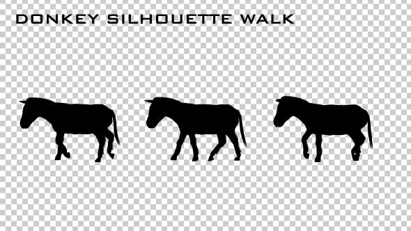 Thumbnail for Donkey Silhouette Walk Animation