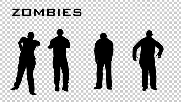 Thumbnail for Zombie Silhouettes