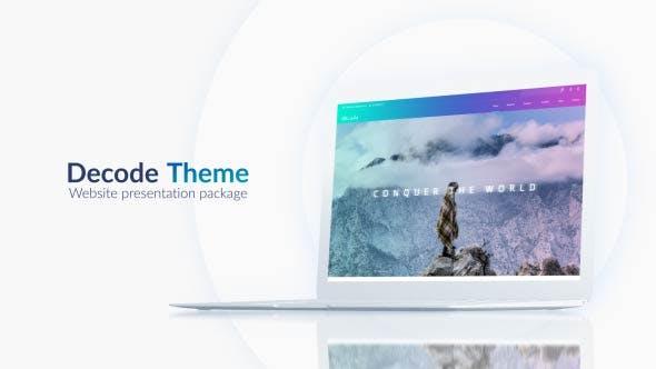 Light Website Presentation Pack
