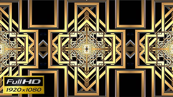 Thumbnail for Art Deco Kaleidoscope Loop Background