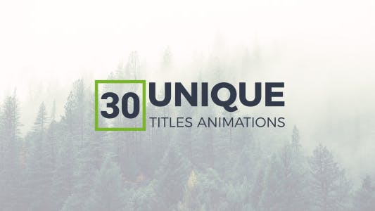 Thumbnail for 30 Unique Titles Animations
