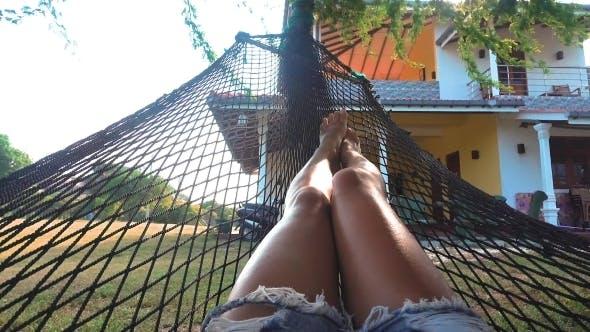 Thumbnail for Girl Relaxing Lying in Hammock
