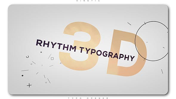 Thumbnail for 3D Rhythm Typography Intro