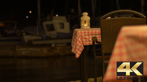Thumbnail for Romantic Tables near Harbor