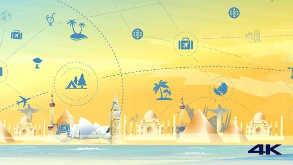 Thumbnail for Travel & Tourism Landmark Background