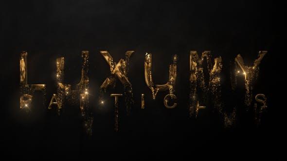 Luxury Particle Logo