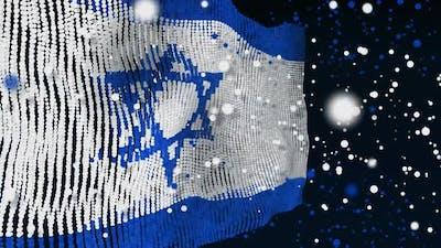 Israeli Flag Particle Animation