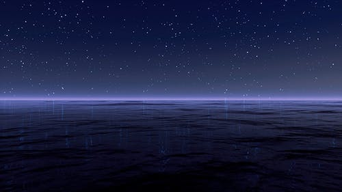 Starry Night At Sea 4K