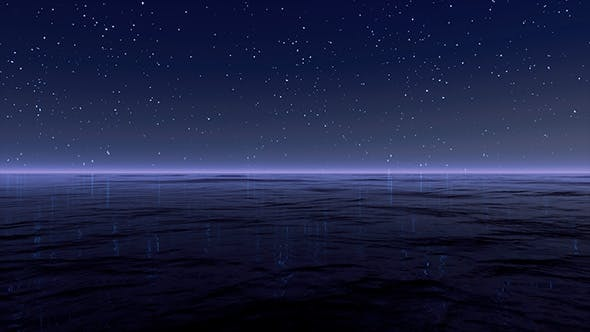 Thumbnail for Starry Sky At Sea Background