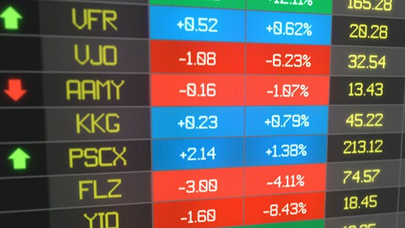 Thumbnail for Stocks Price Table Loop - Closeup