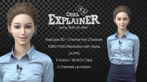 Dual Explainer Jenny Shirt On Skirt