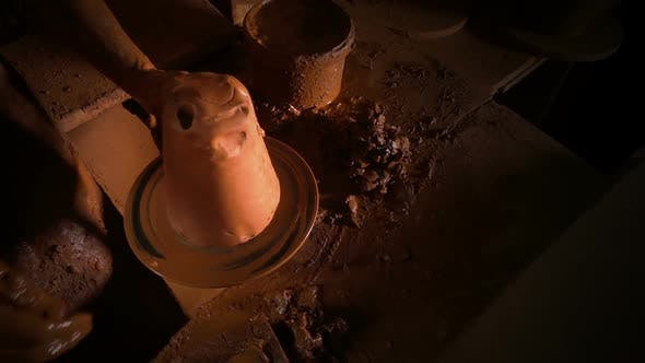 Thumbnail for Pot Made Of Clay Workshop Slow Motion