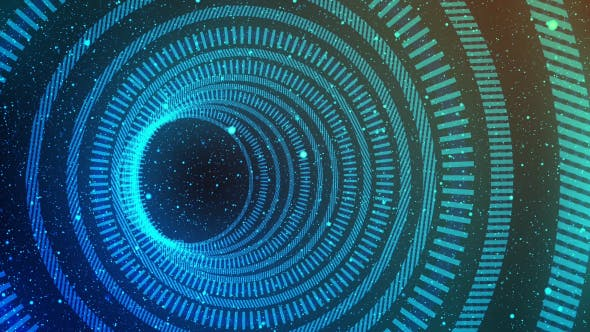 Cyber Hologram HUD Tunnel