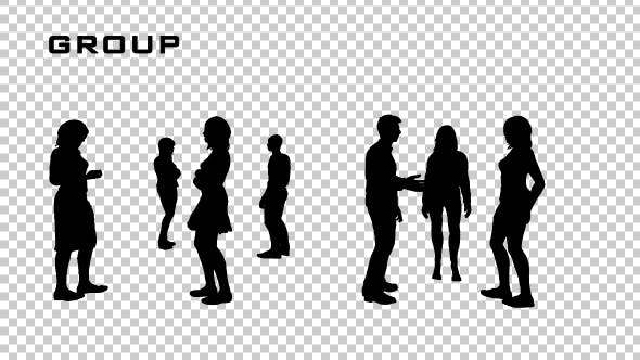 Thumbnail for Group of People Silhouettes
