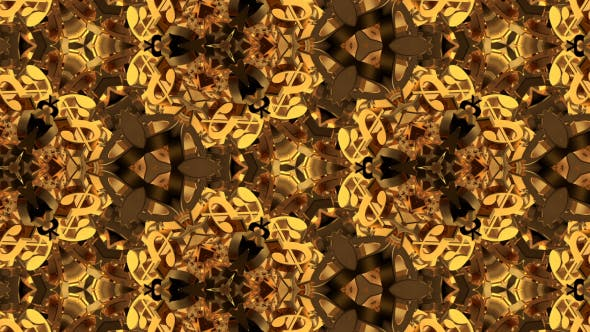 Gold Currency Kaleidoscope