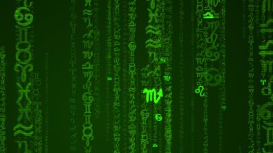 Zodiac Symbols Matrix