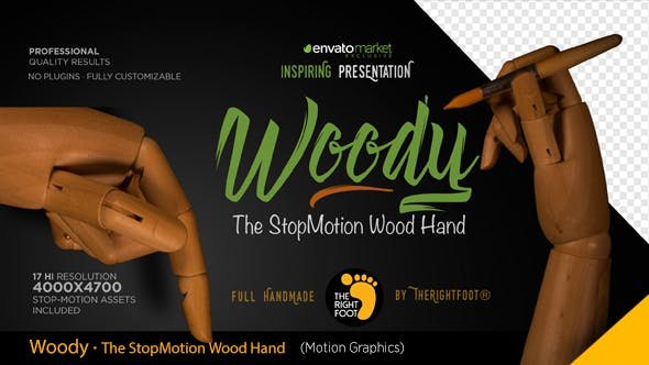 Thumbnail for Wood Hand Stop Motion Bundle