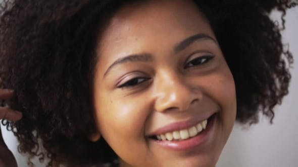 Thumbnail for Happy African American Young Woman Face 67