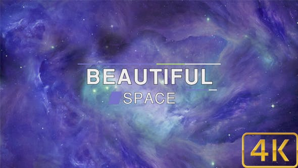 Thumbnail for Beautiful Abstract Exciting Blue Space Nebula Background