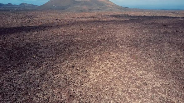 Volcanic Valley Near Timanfaya National Park, Lanzarote.