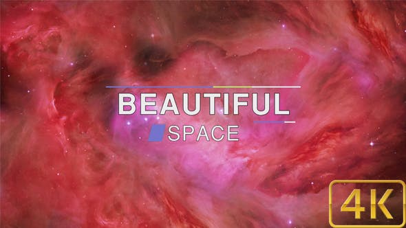 Thumbnail for Beautiful Abstract Exciting Red Space Nebula Background