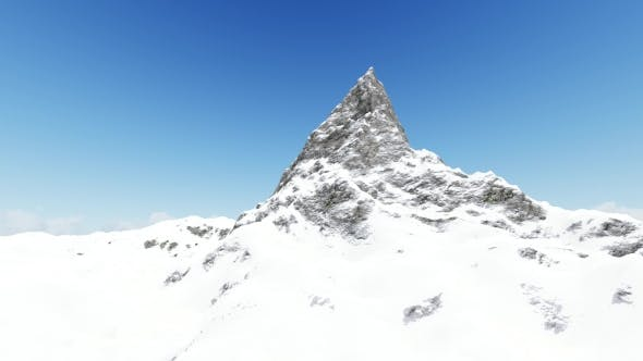 Snow Mountains and Clear Sky