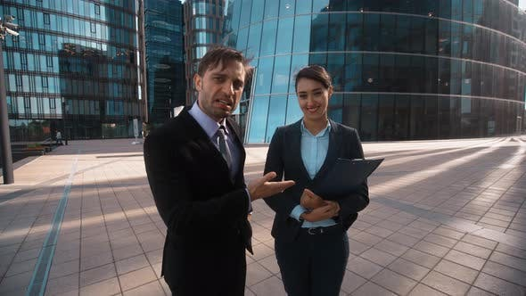 Thumbnail for Businessman Recommed His Partner To You
