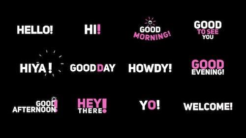 """Phrase Kinetic Typography  """"Hi"""""""