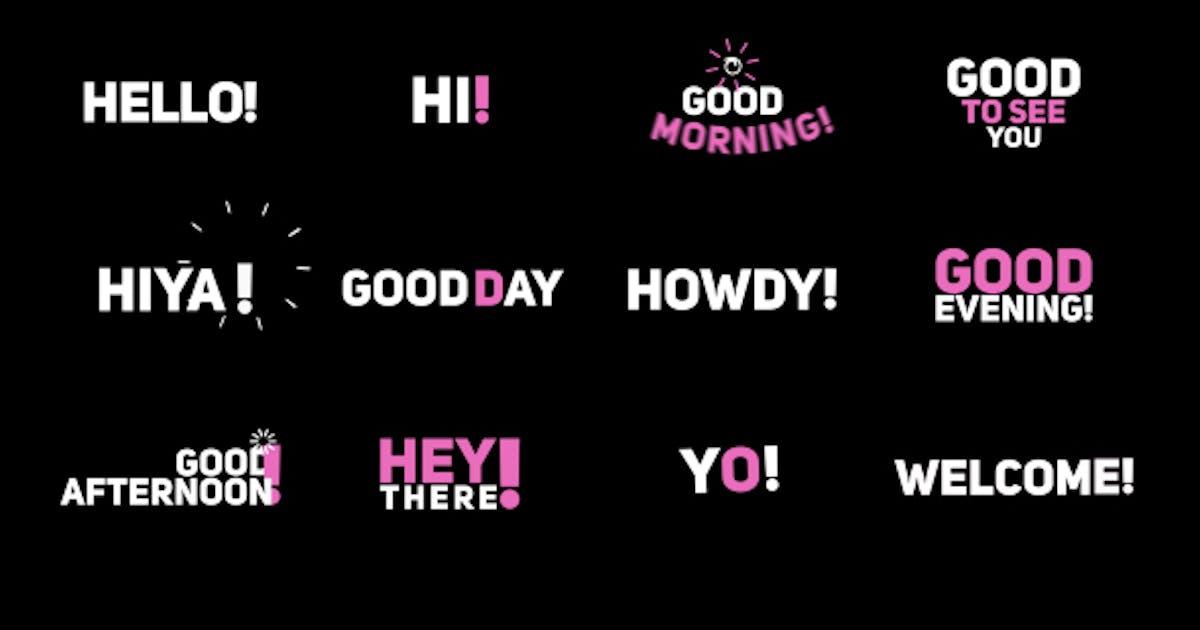 "Download Phrase Kinetic Typography  ""Hi"" by HelgaGraf"