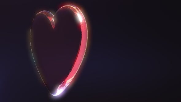 Thumbnail for Rotating Glass Heart Shape