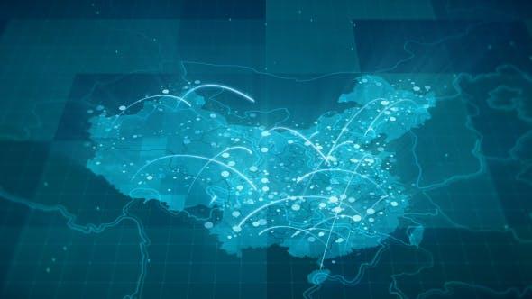 Thumbnail for Globalization China Map Animation HD