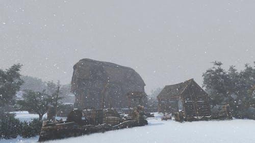 La vie hivernale médiévale