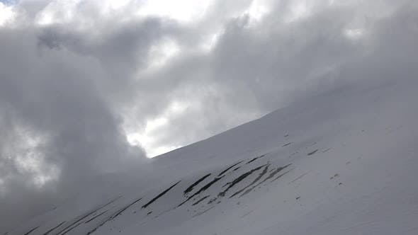 Thumbnail for Treeless Slope of Snowy Mountain Surface