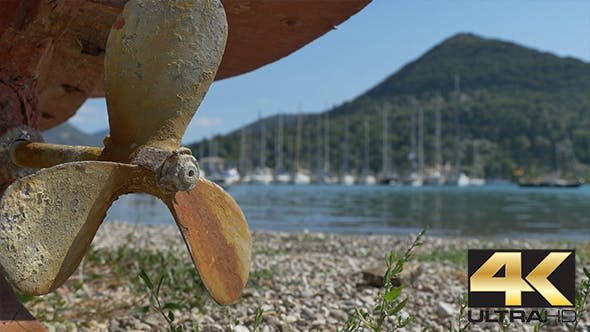 Thumbnail for Rusty Propeller near Shore