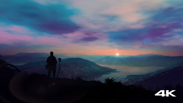 Thumbnail for The Photographer Shoots A Fantastic Dawn In The Mountains