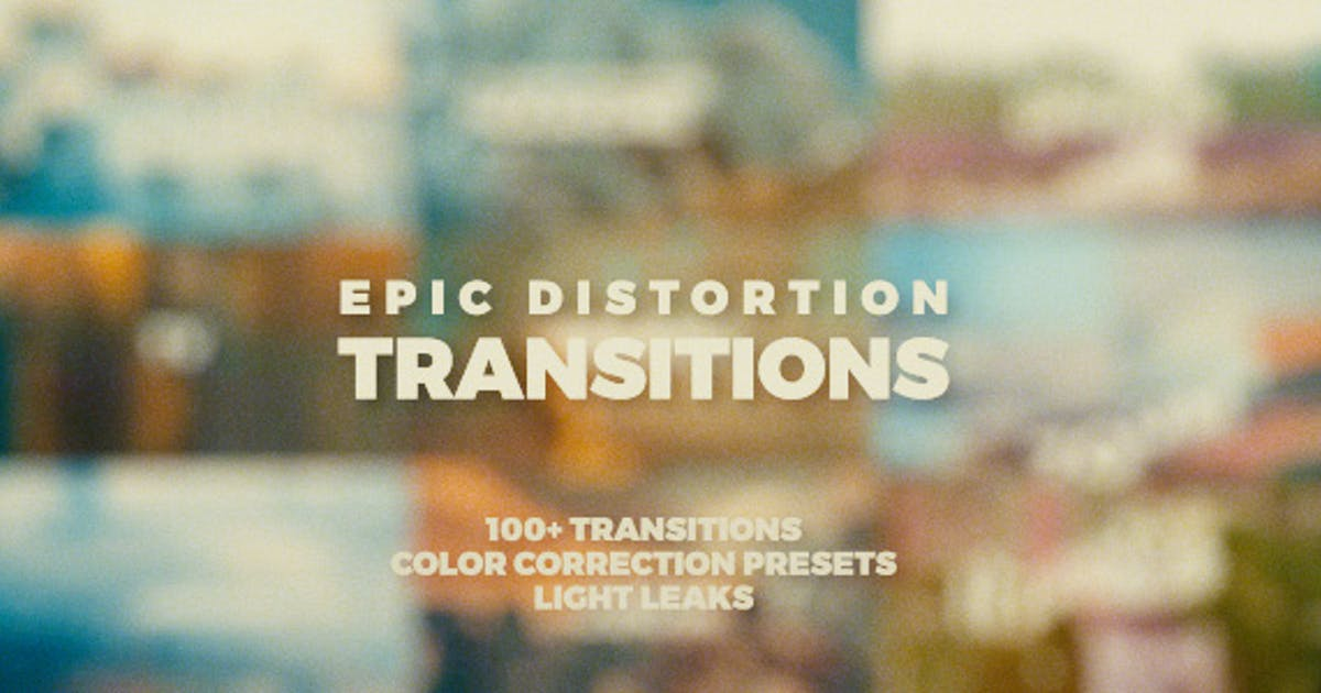 Download Epic Distortion Transitions by vcgmotion