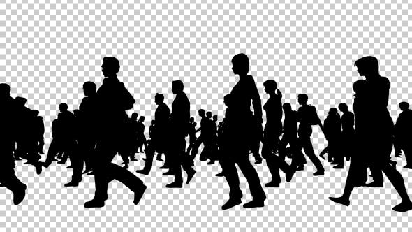 Thumbnail for Creative People Silhouettes Walking