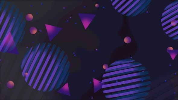 Thumbnail for Purple Geometric Shapes Background
