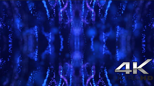 Thumbnail for New Age of Blue Kaleido Particles 4k
